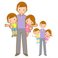 Father husband holding the children. Home and Family Character D Stock Image
