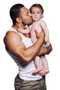 Father kissing daughter Royalty Free Stock Photo