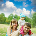 Father and mother with baby Royalty Free Stock Photos