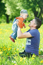 Father playing with child boy Royalty Free Stock Photography