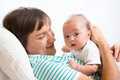 Father playing with his cute baby boy Stock Photos