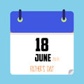 Father`s day calendar date