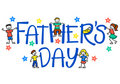 Father's Day Kids/eps Royalty Free Stock Photo