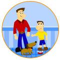 Father and son a a Royalty Free Stock Images