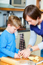 Father and son baking together Royalty Free Stock Images