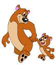 Father And Son Bears Royalty Free Stock Photo