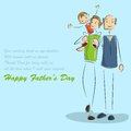 Father and son in father s day background vector illustration of Stock Images