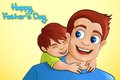 Father and son in father s day background vector illustration of Royalty Free Stock Images