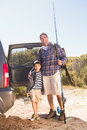 Father and son on a fishing trip Royalty Free Stock Photo