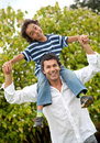 Father and son having fun Royalty Free Stock Image