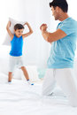 Father and son having fun together Royalty Free Stock Photo