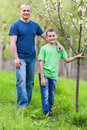 Father and son outdoor Stock Photography