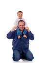 Father and son playing together Stock Photography