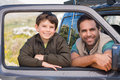 Father and son on a road trip Royalty Free Stock Photo