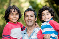 Father and sons Royalty Free Stock Photography
