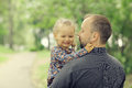 Father travels with daughter his Royalty Free Stock Photos