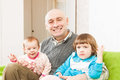 Father and two young daughters Royalty Free Stock Photo