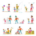 Fatherhood Elements Set Royalty Free Stock Photo