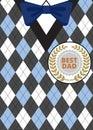 Fathers Day On Argyle Background