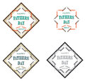 Fathers day badge multiple color june th Stock Photo