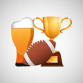 Fathers Day Beer Football Trop...