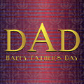 Fathers day card beige and maroon vector eps illustration Royalty Free Stock Image