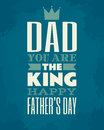 Fathers day card greeting template for Stock Images