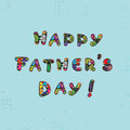 Fathers day card happy father s greeting with pixels funny letters text Royalty Free Stock Photography