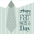 Fathers day card over blue background vector illustration Stock Photos