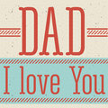 Fathers day design over beige background vector illustration Stock Image