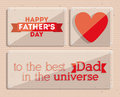 Fathers day design over beige background vector illustration Stock Photo