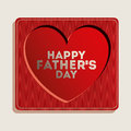 Fathers day design over beige background vector illustration Stock Photography