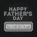 Fathers day design over black background vector illustration Royalty Free Stock Photos