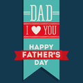 Fathers day design over blue background vector illustration Stock Photography