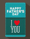 Fathers day design over dark background vector illustration Stock Photos