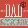 Fathers day design over red background vector illustration Stock Photo