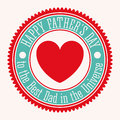 Fathers day design over white background vector illustration Royalty Free Stock Photo