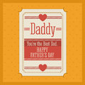 Fathers day design over yellow background vector illustration Stock Photography