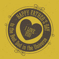 Fathers day design over yellow background vector illustration Stock Images