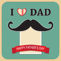 Fathers day design vector art of Royalty Free Stock Photos
