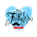 Fathers Day Lettering Calligraphic.Happy Fathers Day Handwritten