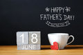 Fathers Day message with coffee cup Royalty Free Stock Photo