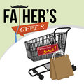 Fathers Day Sale Promotion Background.