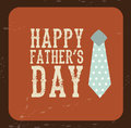 Fathers day tag over vintage background vector illustration Royalty Free Stock Photography