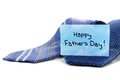 Fathers day ties happy card with blue over white Royalty Free Stock Images