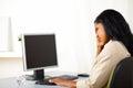 Fatigue businesswoman on work