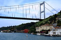 The fatih sultan mehmet bridge also known as second bosphorus in turkish köprüsü f s m Stock Photos