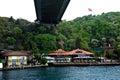 The fatih sultan mehmet bridge also known as second bosphorus in turkish köprüsü f s m Royalty Free Stock Photography