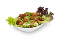 Fattoush salad lebanese salad isolated on white background saladn Stock Photos