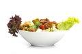 Fattoush salad lebanese salad isolated on white background saladn Royalty Free Stock Image